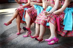 Damas de honor vestido cuadros