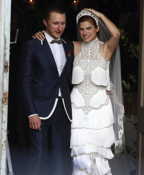 Lake Bell wedding dress