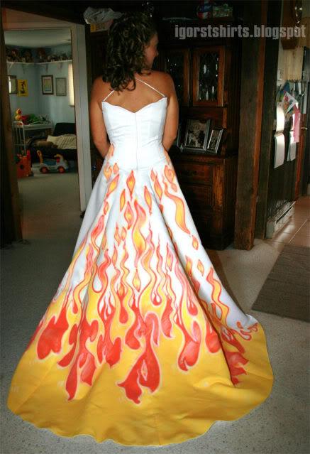 Llamas vestido de novia