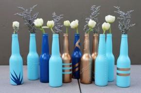 Botellas de Coronita como jarrones
