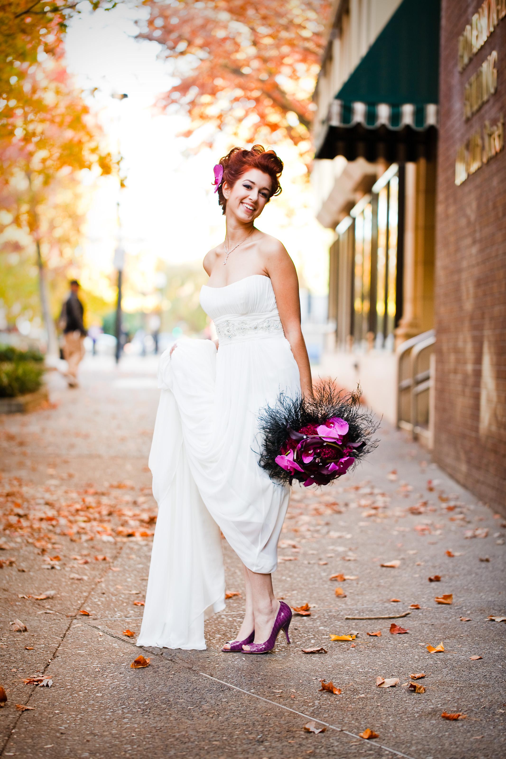 Bride purple shoes