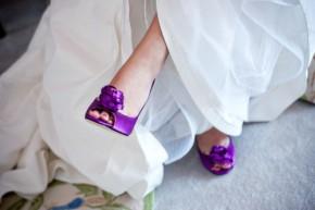 Zapatos de novia morados