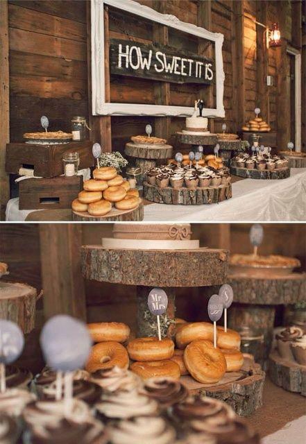Donuts y dulces boda