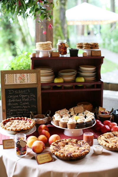 Small wedding dessert table