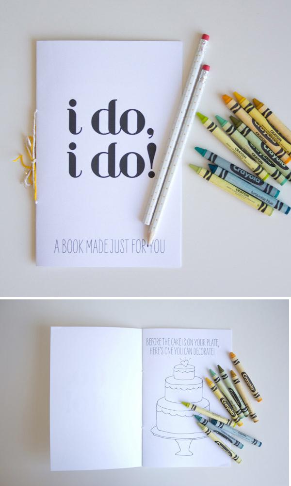 Libro para colorear versión boda