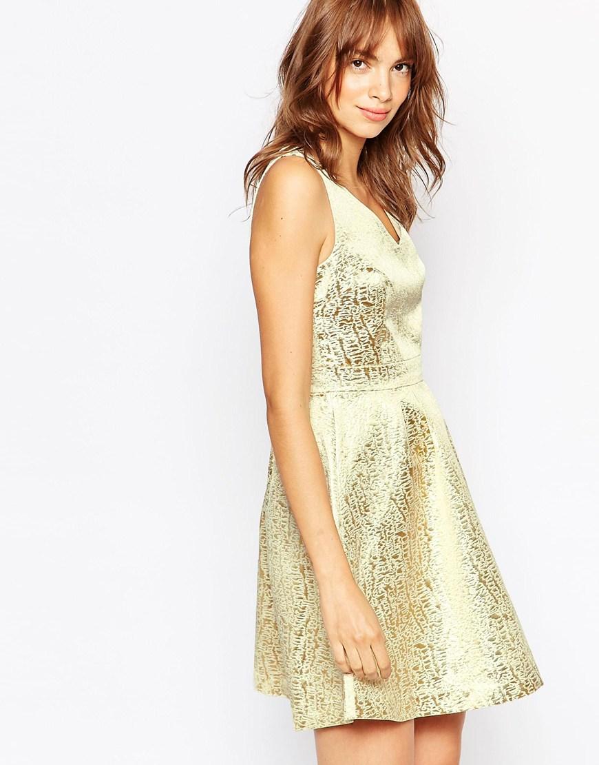 Vestido dorado ASOS