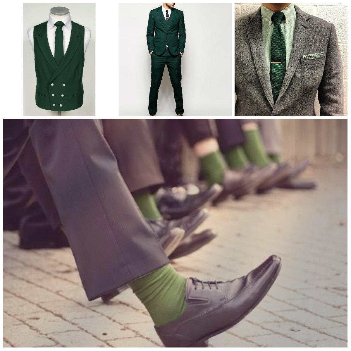 Ideas para novio en verde