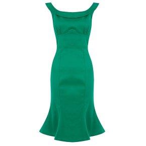 Vestido inspirado 50s verde