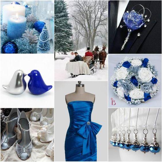 Ideas azul y plata