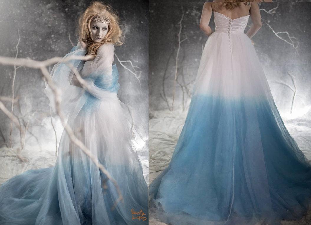 Vestido degradado azul Etsy