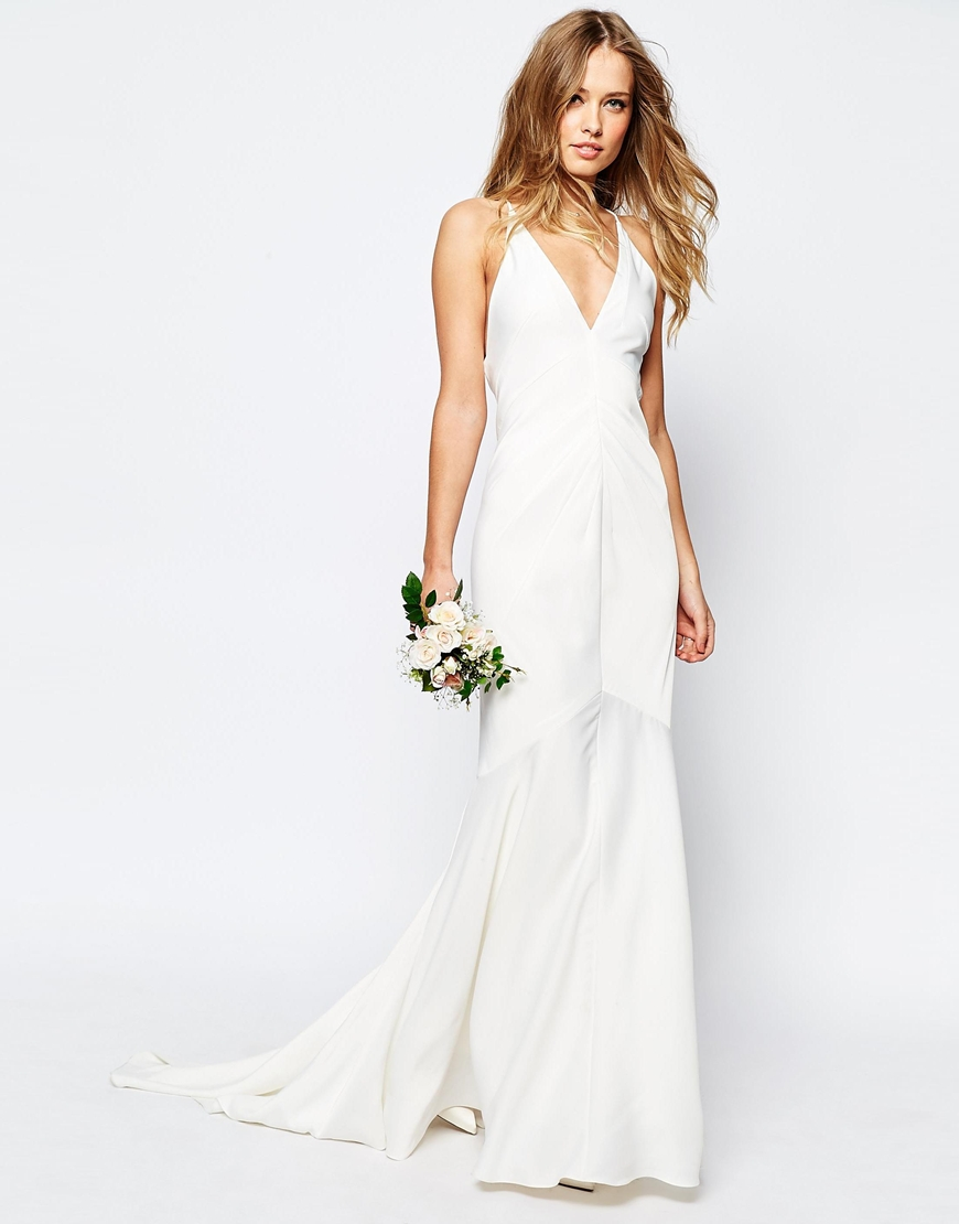 Vestido largo tirantes blanco