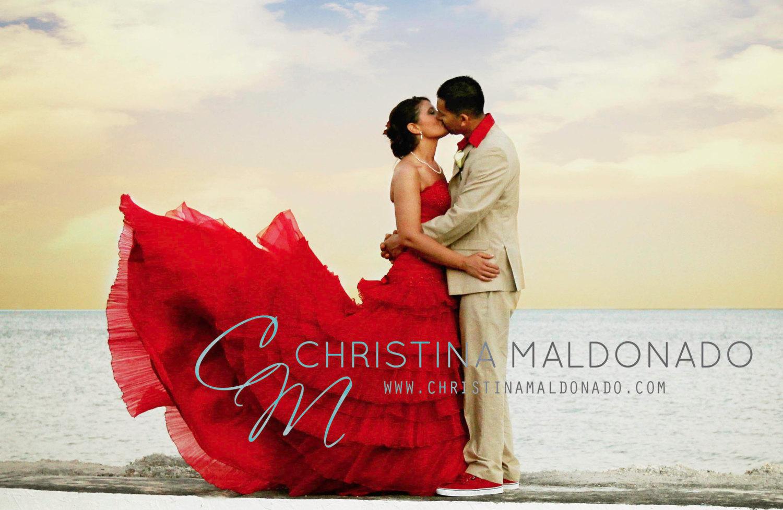 Vestido rojo Christina Maldonado