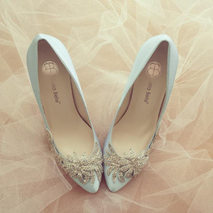 Zapatos azul y plata